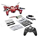Hubsan 61145 4 Channel 2.4GHz RC Quad Copter with Camera (Red/Silver)
