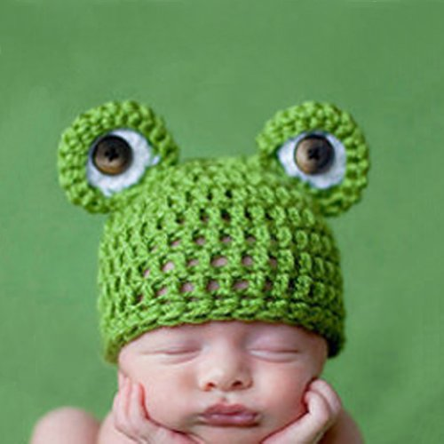 Smart Baby Infant Cute Frog Hat Costume Photography Props 0-6 Months Newborn