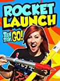 TEEN TITANS GO! Toys Rocket Launch Watch Starfire, Cyborg & Teen Titans Launched by EpicToyChannel
