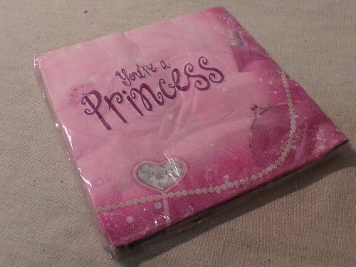 Gartner Brand 2-ply Paper Party Napkins - pack of 16: You're a Princess