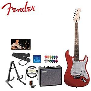 Fender Starcaster Strat Electric Guitar, red