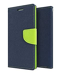 Online Street Wallet Style Flip Cover For Xiaomi Mi4i - (Blue Green)