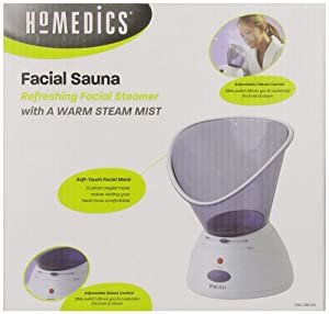 Homedics Facial Refresher Facial Sauna and Inhaler (White)