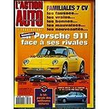 ACTION AUTOMOBILE ET TOURISTIQUE (L') [No 382] du 01/11/1993 - FAMILIALES 7 CV. LA NOUVELLE PORSCHE 911 FACE A...