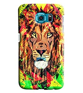 Blue Throat Lion Printed Designer Back Cover/Case For Samsung Galaxy S6