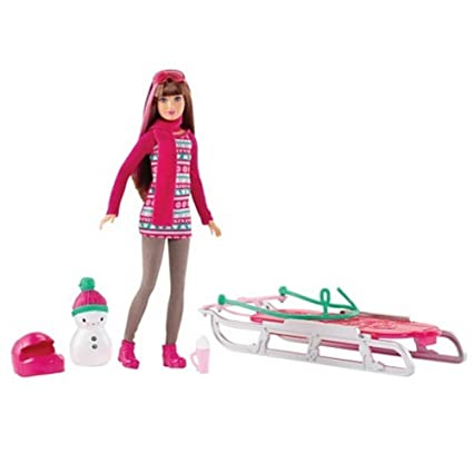 Barbie Sisters' Sledding Fun