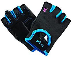 Saranac b-grl just4me Fitness Gloves, Graphite/Cobalt, Small