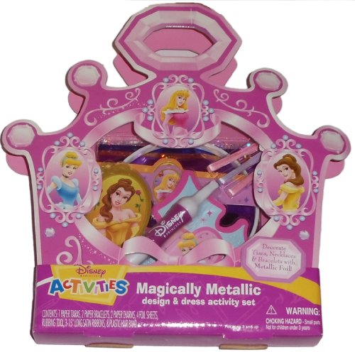 Disney Princess Magically Metallic Design and Dress Activity Set - 1
