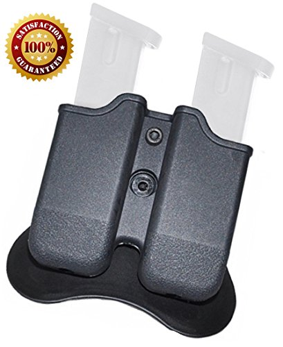 Glock Magazine Holder ✮ 9mm Magazine Holster ✮ The Ultimate Double Stack Glock Holder with Paddle ✮ 9mm and .40 Caliber magazine pouch ✮ Backed By GoZier Tactical LIFETIME Warranty