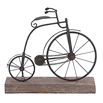 Deco 79 Metal Wood Bicycle, 16 by 14-Inch