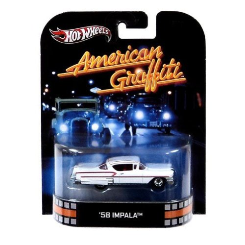 Hot Wheels Retro American Graffiti 1:64 Die Cast Car '58 Impala (American Graffiti Diecast Cars compare prices)