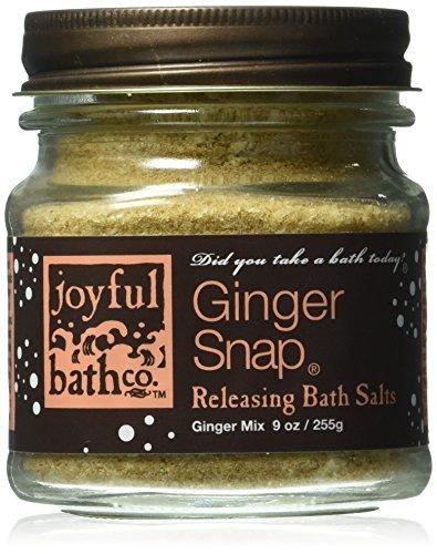Joyful Bath Ginger Snap Releasing Bath Salts, Ginger, 9 Ounce 9 Ounce Bath