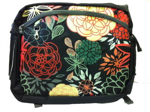 Simply Good Ultra Tote Bag, Black Marigolds/Roses