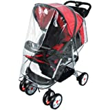 Simplicity® Baby Weather Shield Stroller Waterproof Rain Cover Canopy, Clear