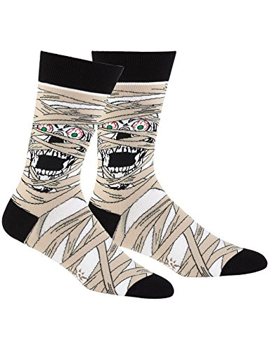 Men's and Women's Scary Halloween Mummy Themed Crew Socks - Sock It To Me