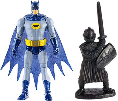 "Super Hero Multiverse Batman '66 4"" Action Figure & Free Guardian Knights Action Figure Set 36-Piece, Colors may vary Toys"