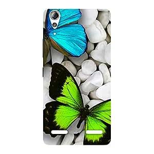 Gorgeous Premier Butterflies Multicolor Back Case Cover for Lenovo A6000