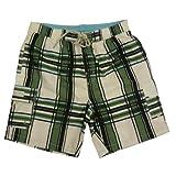 Caribbean Joe Men's Swim Trunk (Black/Green/White) (Large)
