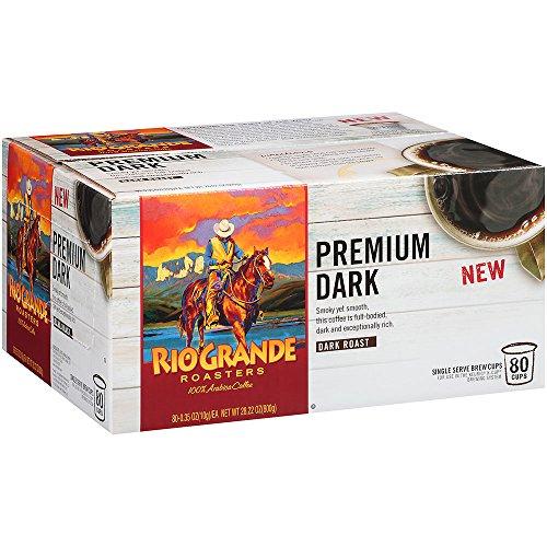 Rio Grande Roasters Premium Dark Coffee Single Serve K-Cup, 80 Count