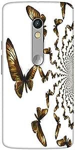 Snoogg Kaleidoscopic Butterflies Designer Protective Back Case Cover For Motorola Moto X Play