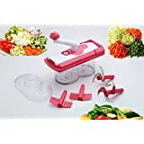 One Stop Shop Plastic Food Processor Vegetable Cutter, Chopper, Mixer, Kneader, Lassi Maker, Egg Beater, Frother...