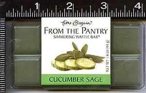 Scented, Wax Cubes, Wax Melts, Wax Tarts, , , 1 , , Cucumber Sage, Waffle, Bar,