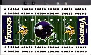 Minnesota Vikings NFL Football Field Cribbage Board by Rico