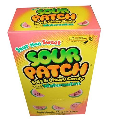 Sour Patch Kids Soft & Chewy Candy Watermelon Flavor, Sour Then Sweet,(240 Indinidually Wrapped Pieces Per Box) (Gourmet,Cadbury Adams,Gourmet Food,Candy,Gummy Candies)