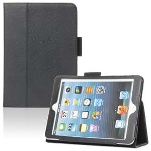 tinxi® PU Leder Tasche Cover für Apple iPad Mini / Mini 2 (Retina Display) / iPad mini 3 Ledertasche 7,9 Zoll (20,1 cm) Tablet Case Schutz Hülle Standfunktion Sleep und Wake Up Funktion Schwarz