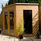 OXFORD: 8ft x 8ft PREMIER Solis Corner Summerhouse (Tongue & Groove Floor & Roof)