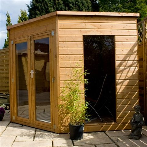 OXFORD: 8ft x 8ft PREMIER Solis Corner Summerhouse (Tongue & Groove Floor & Roof)
