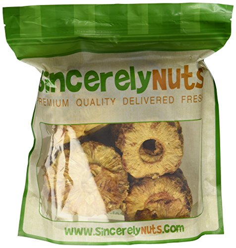 Sincerely Nuts Dried Natural Pineapple with No Sugar - Two (2) Lb. Bag - Irresistibly Tasty - Unmatched Freshness - Insanely Healthy - Kosher Certified (Pineapple Dried Fruit compare prices)