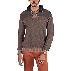 Provogue Men's Cotton Sweater (8903522446900_103603-EA-28_Medium_Brown)