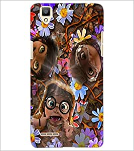 PrintDhaba Faces D-2622 Back Case Cover for OPPO F1 (Multi-Coloured)