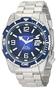 Momentum Men's 1M-DV50U0 M50 DSS Blue Dial Steel Bracelet Watch