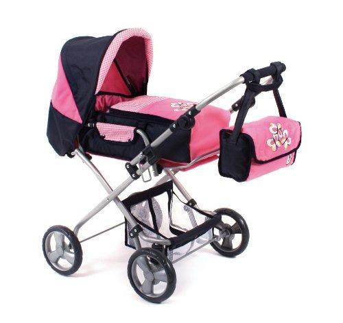 Bayer Chic 2000 586T46 - Kombi Bambina, Pink Checker, Puppenwagen