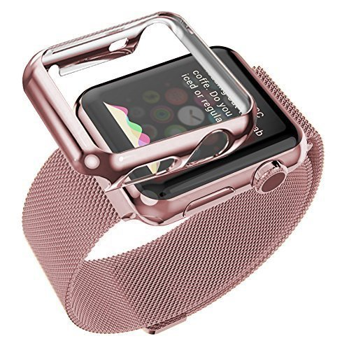 Apple-Watch-Band-Biaoge-Steel-Milanese-Loop-Replacement-Wrist-Band-with-Plated-Case-for-Apple-Watch-38mm