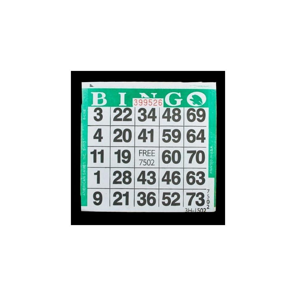 125 sheets  FREE SHIPPING US BINGO PAPER Cards 3 on 1 Orange Vertical