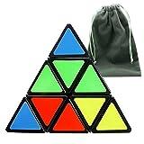 Xbeayun Shengshou Megaminx Cubo Magico Puzzle divertido regalo juguetes educativos (Piramide)