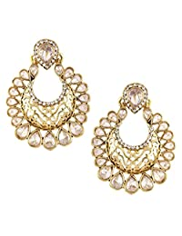 The Jewelbox Gold-Plated Hoop Earring For Women (Gold)
