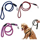 Alcoa Prime Comfort Dog Leash Strong Pet Dog Collar Braided Nylon Rope Lead Leash Durable Heavy Duty Rondom Color