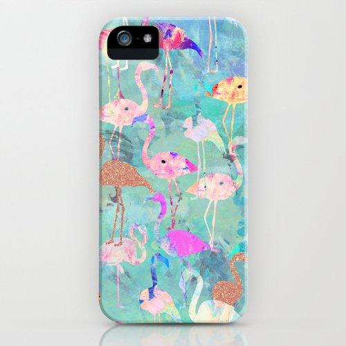 すぐお届け!!日本未発売Society6 iPhone 5/5S ケース 「Flamingo Party」