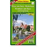 Plau am See, Malchow, Krakow am See und Umgebung Radwander- und Wanderkarte 1 : 50 000: Ausflüge zwischen Hohen...