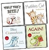Emily Gravett Emily Gravett Picture 4 Books Collection Pack Set (Wolf Won't Bite!, Matilda's Cat, Again!, Blue Chameleon)