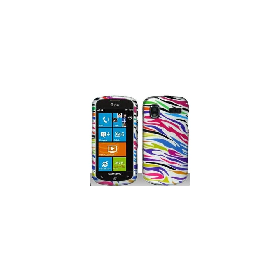 Rainbow Zebra Hard Snap On Case Cover Faceplate Protector for Samsung Focus i917 + Free Texi Gift Box