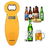 Lagute 2PCS Beer Counting Tracker Bottle Opener, Kitchen Party Gadget Beer Tally Gift for the 2014 FIFA World Cup (2PCS Yellow)