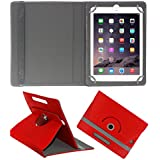 ACM ROTATING 360° LEATHER FLIP CASE FOR APPLE IPAD AIR 1 TABLET STAND COVER HOLDER RED