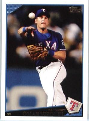 Omar Vizquel - Texas Rangers - 2009 Topps Update Baseball Card # UH174 - MLB Trading Card