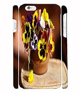 Fuson 3D Printed Flowers Designer Back Case Cover for Apple iPhone 6 - D764