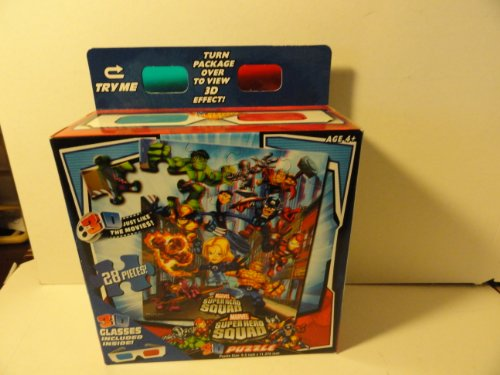 3D 28 Piece Puzzle - Super Hero Squad - 1